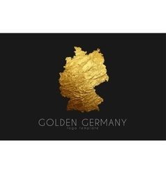 Germany map golden germany logo creative germany vector