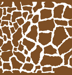 giraffe skin seamless pattern african animals vector image