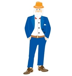 Grandparent in turn blue suit vector image vector image