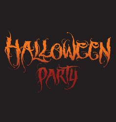 Hand drawn halloween lettering vector