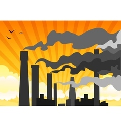 Heavy industrial smog vector