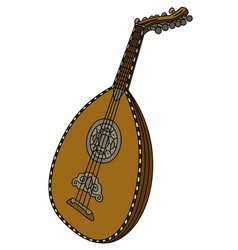 historical wooden lute vector image