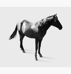 horse gradient vector image