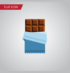 isolated chocolate flat icon bitter vector image vector image