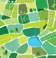 Landscape top view seamless pattern vector image vector image