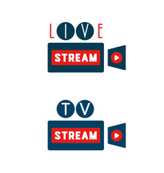 Live stream camera shape vector