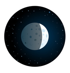lunar eclipse round icon vector image