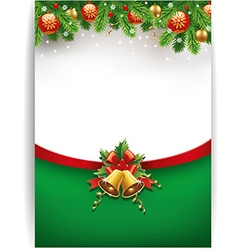 merry chrismas background with place for text vector image vector image
