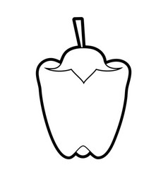 Peppers food silhouette vector