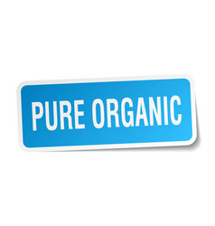Pure organic square sticker on white vector