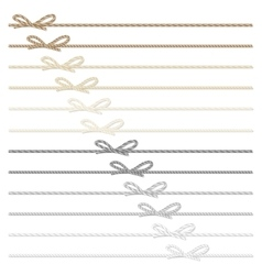 Rope bows and ribbons vector