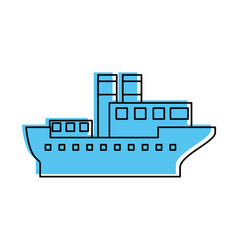 Sea transportation logistic maritime shipping vector