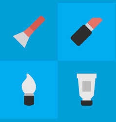 set of simple fashion icons vector image