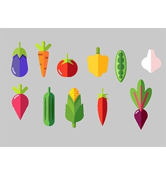 Set of vegetable icons vector