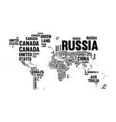 Text country name world map typography design vector