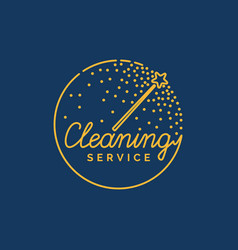 The logo of the company on cleaning of rooms vector