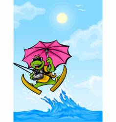 travel frog vector image