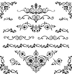 vintage elements vector image vector image