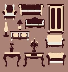 vintage furniture Interior Icon vector image