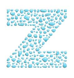Water letter z vector