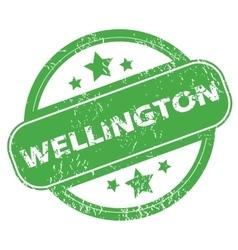 Wellington green stamp vector