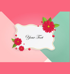 Wonderful background with beautiful flowers vector