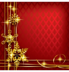 Christmas and New-Years greeting card vector image