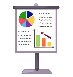 Business charts on white background vector image
