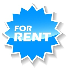For rent blue icon vector