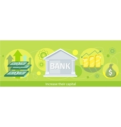 Web banner of the bank as traditional investor vector