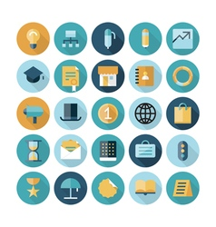 Flat design icons for business and finance vector