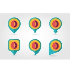 Melon mapping pins icons vector