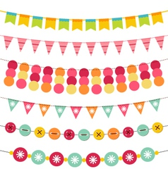 Bunting and garland set vector