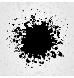 Musical stain vector