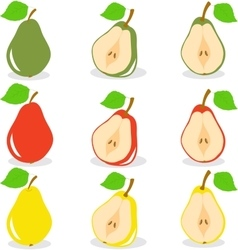 Pears on a transparent vector