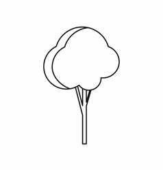 Fluffy tree icon outline style vector