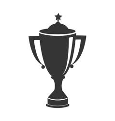 Trophy cup first place icon vector