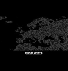 Abstract binary europe map vector