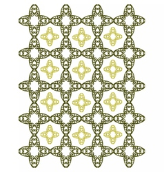 Abstract geometric floral motif wallpaper vector