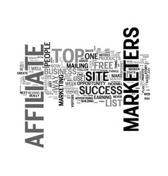 affiliate tips for the top of affiliate marketers vector image