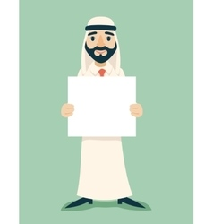 Arab businessman traditional national muslim vector