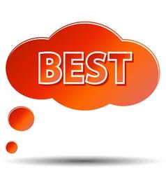 Best icon vector image