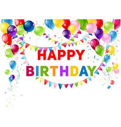 Blue birthday card vector