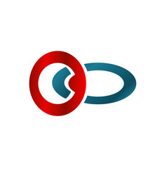 business logo with red and blue circle concept vector image