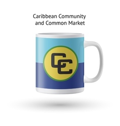Caribbean community and common market flag vector