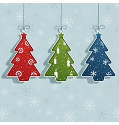 christmas tree decorations vector image vector image