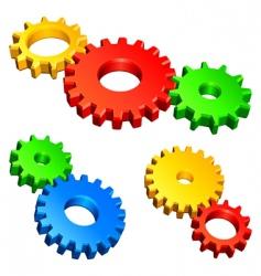 color gears vector image vector image
