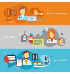 Doctor Banner Set vector image vector image
