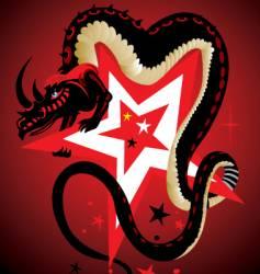 dragon and star vector image