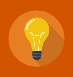Education flat icon light bulb vector